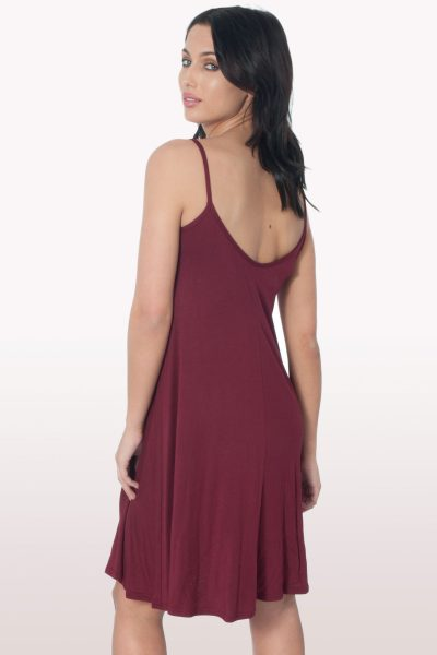 Wine Cami Dress