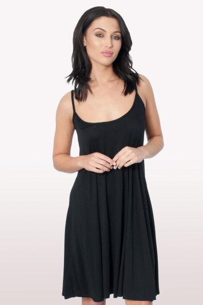 Black Cami Swing Dress