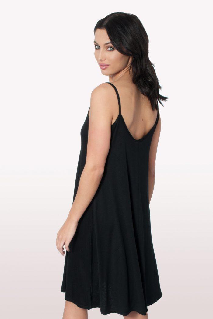 Black Cami Swing Dress