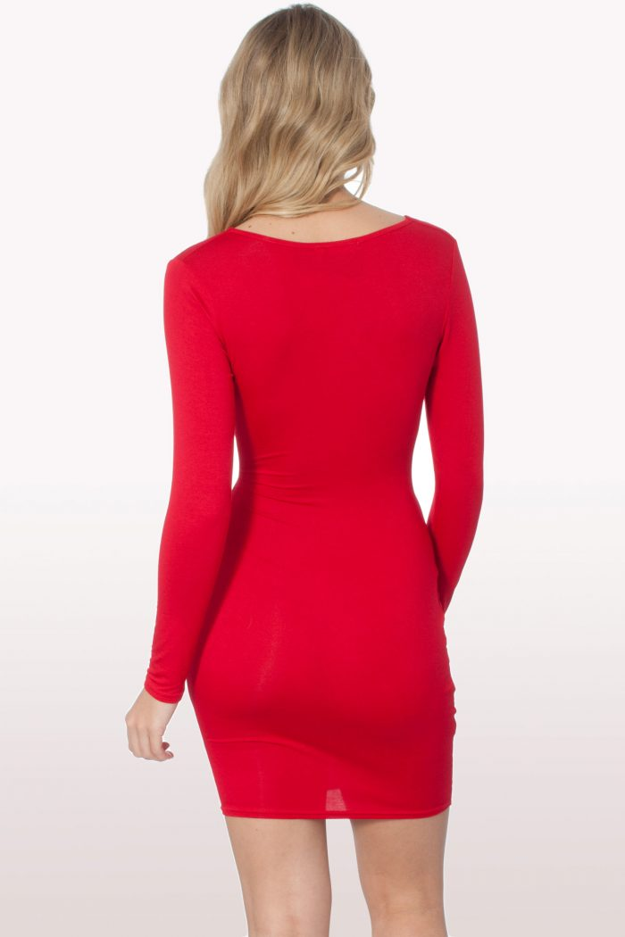 Red Cut Out Bodycon Dress