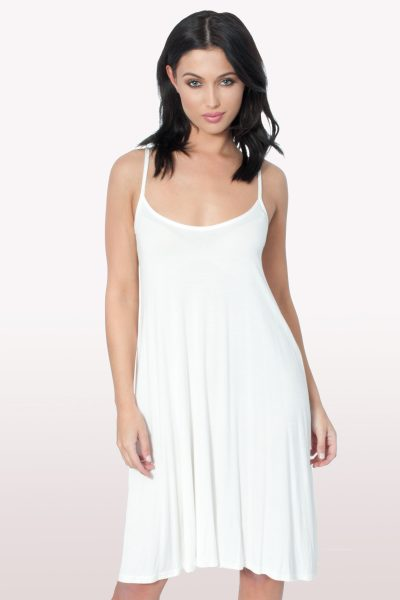 White Cami Swing Dress