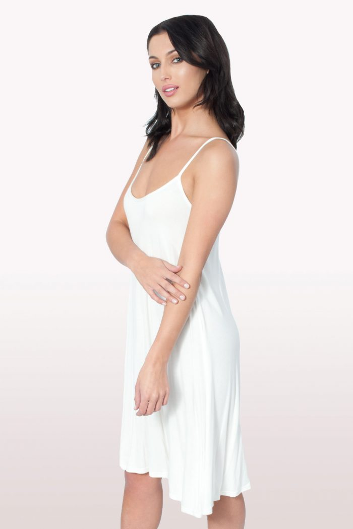 White Cami Swing Dress