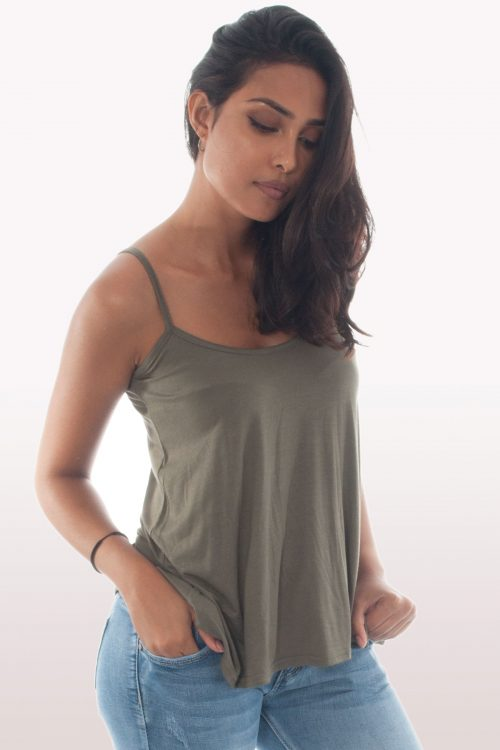 Khaki Cami Swing Top