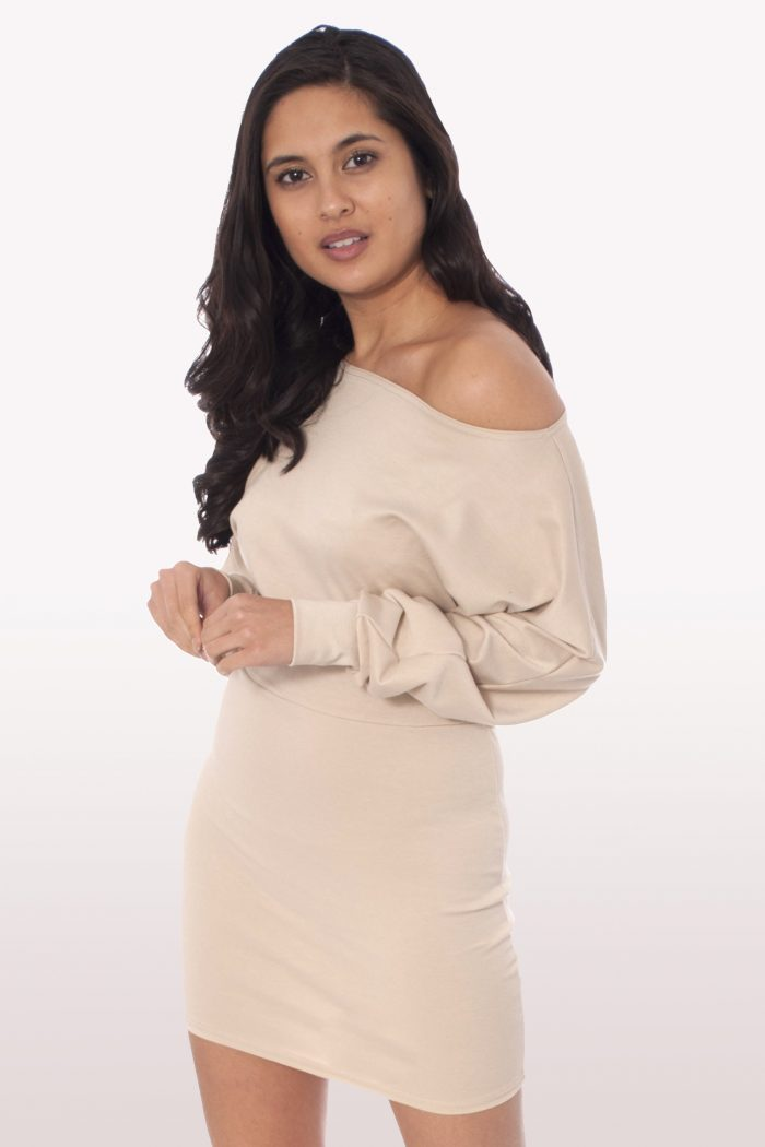 Stone Off Shoulder Batwing Dress