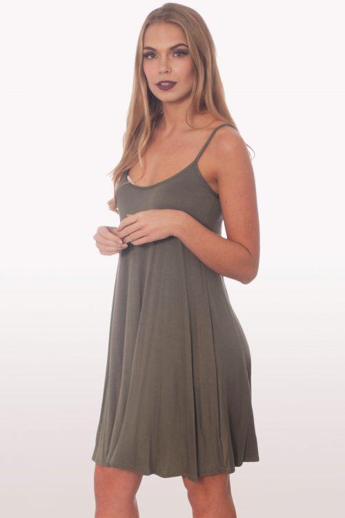 Strappy Cami Swing Dress