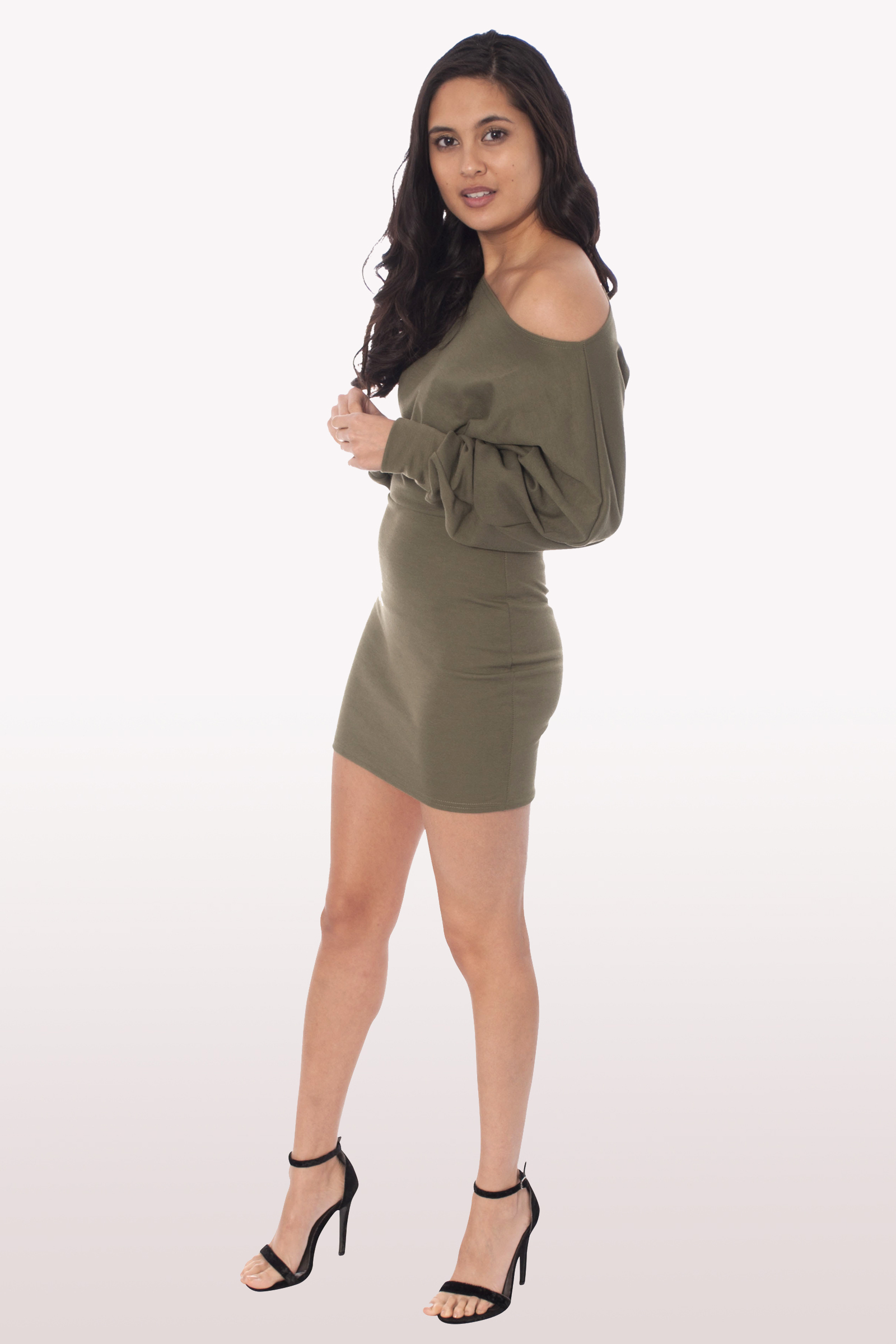 98fc031167ad Khaki Bardot Mini Bodycon Dress