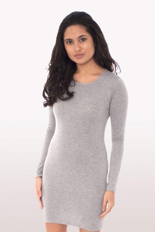 Light Grey Long Sleeve Bodycon Dress