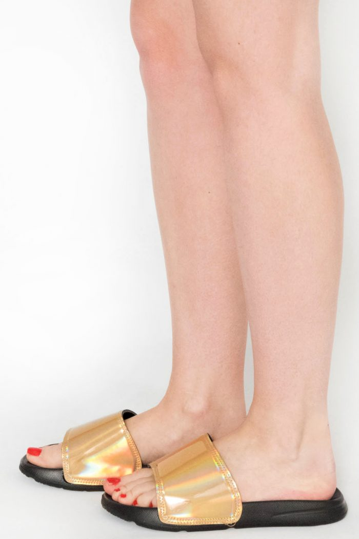 Acacia Gold Iridescent Sliders