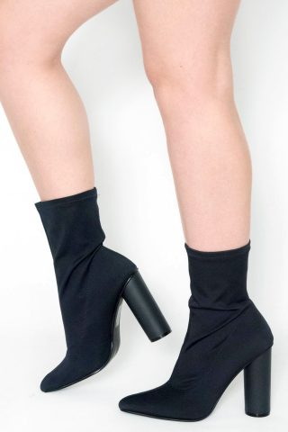 Vienna Navy Stretch Lycra Boots