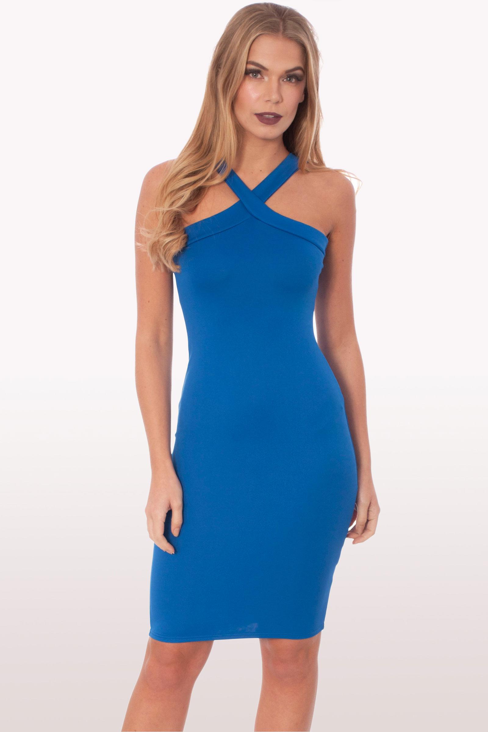 Blue bodycon dress uk wear