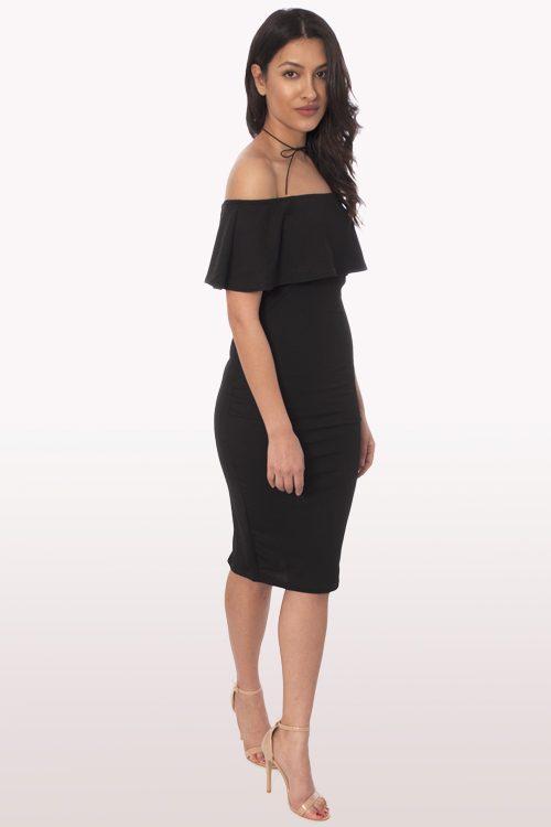 Black bardot dress uk