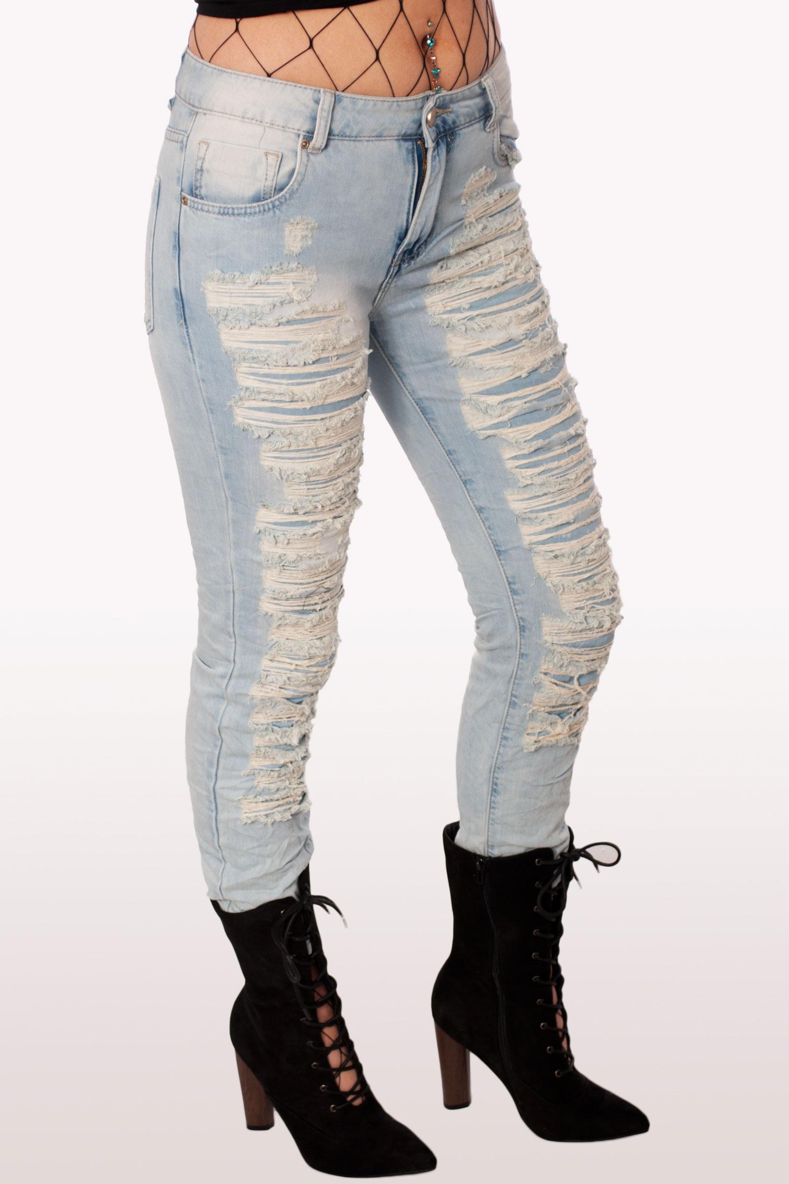 5bb99cf9d7f Light Blue Ripped Mom Jeans | Clothing | Modamore