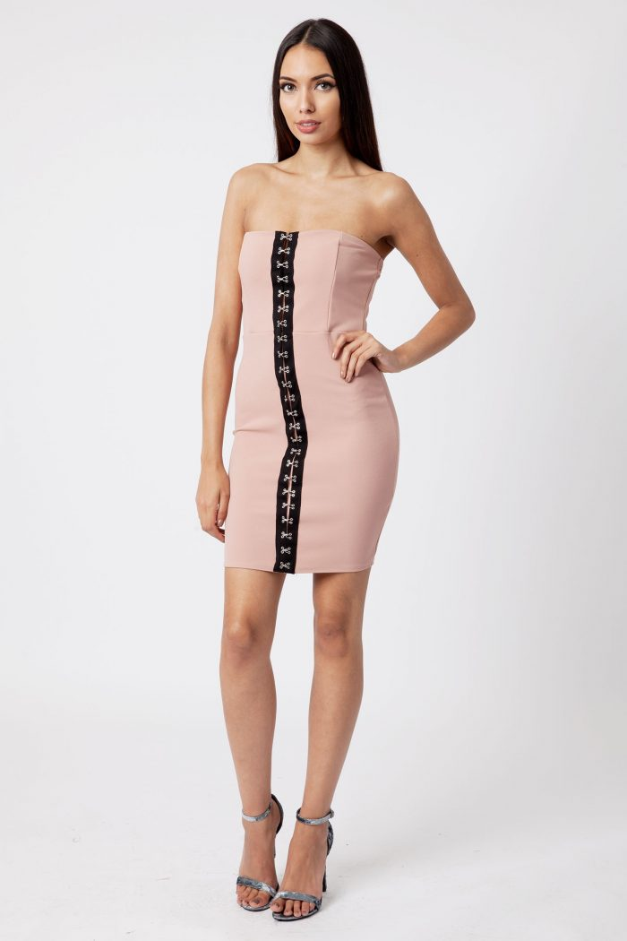 Blush Hook Eyelet Bandeau Dress