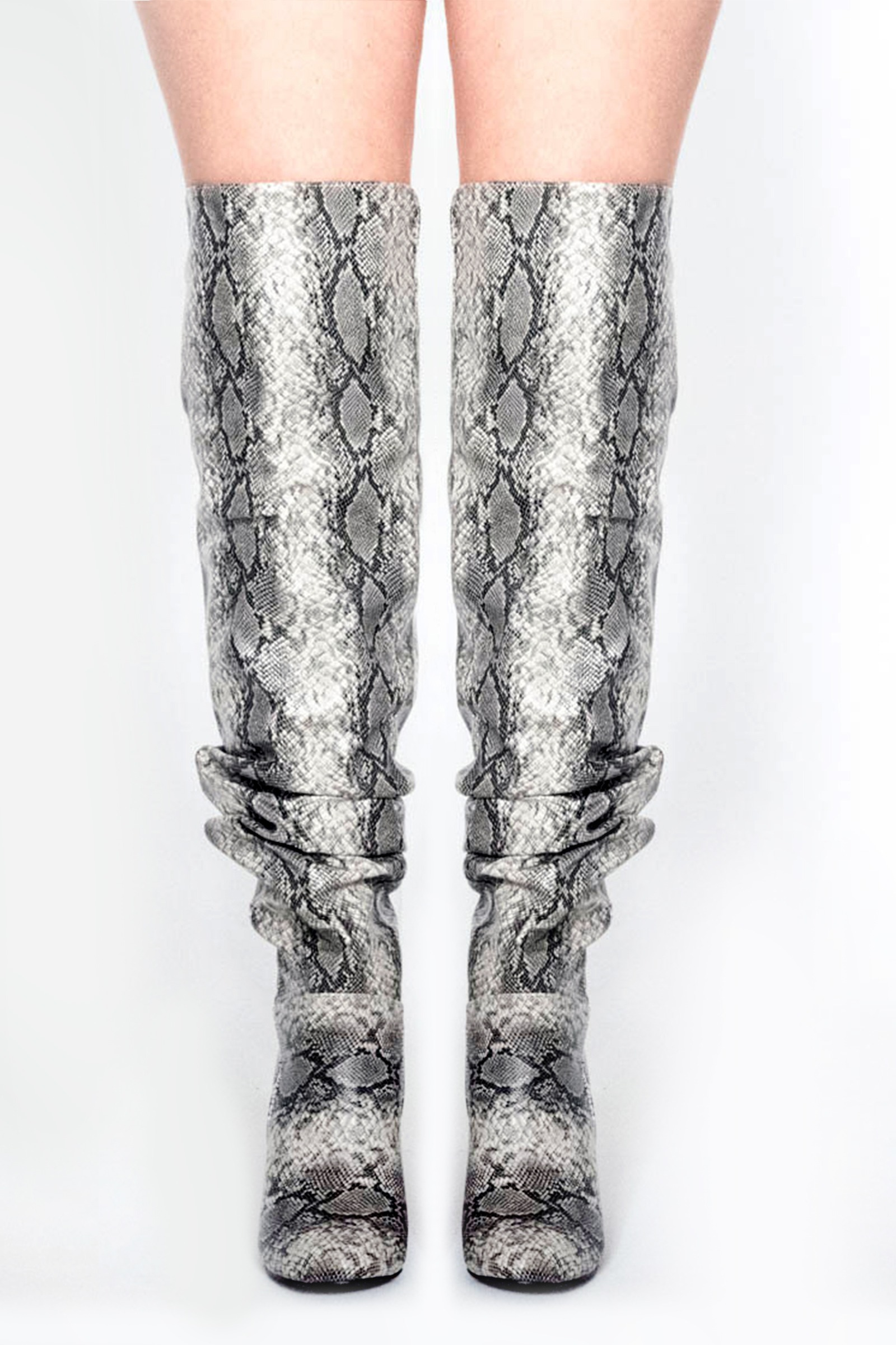 Slouch Snake Over The Knee Boots