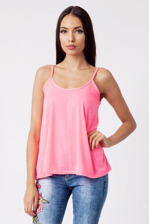 Caela Neon Pink Cami Swing Vest
