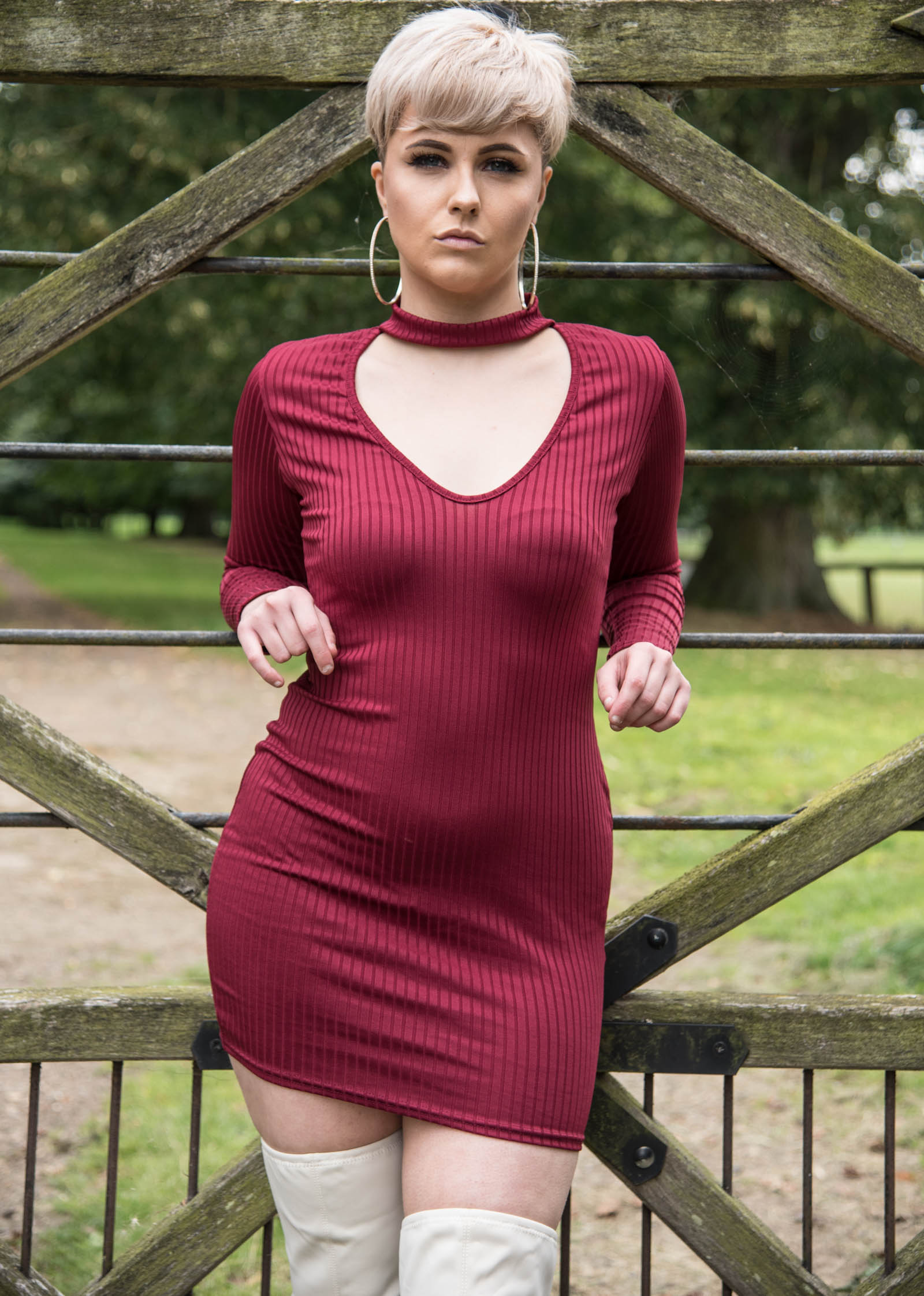 44abbdbbaf Treat yourself to our Eila Wine Choker Mini Bodycon Dress