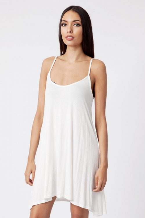 cream strappy cami dress