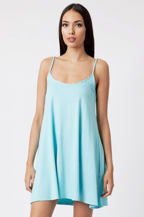 Mint Strappy Cami Dress