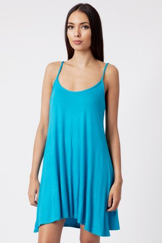 Turquoise Strappy Cami Dress