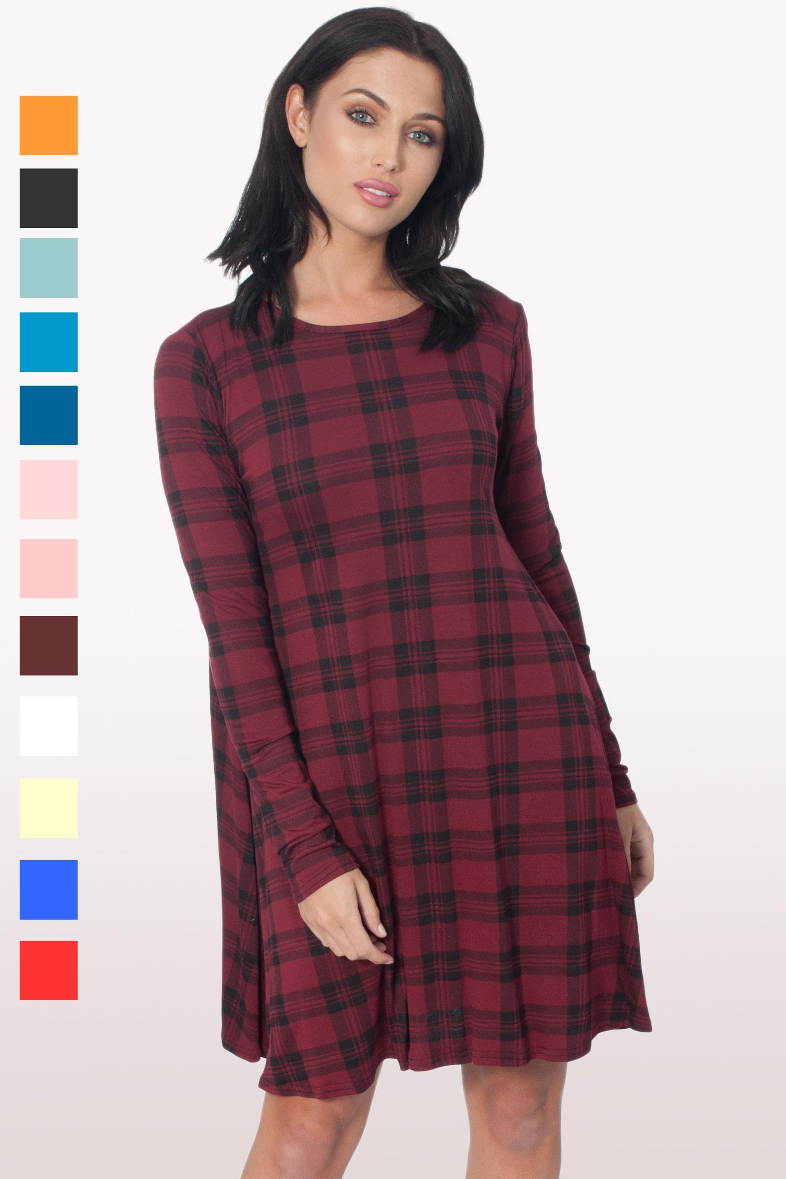 622ef6a69285 Briella Long Sleeve Swing Dress