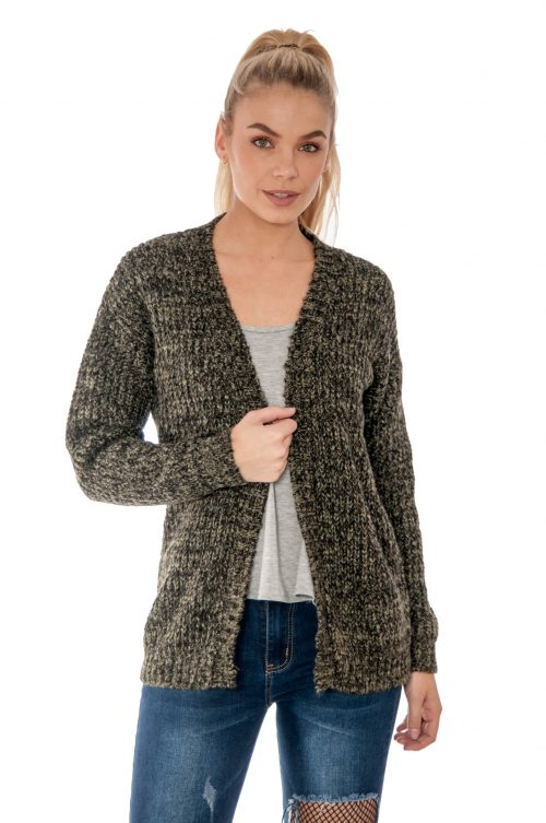 Khaki Knitted Cardigan