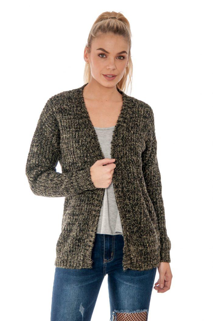 Khaki Knitted Cardigan