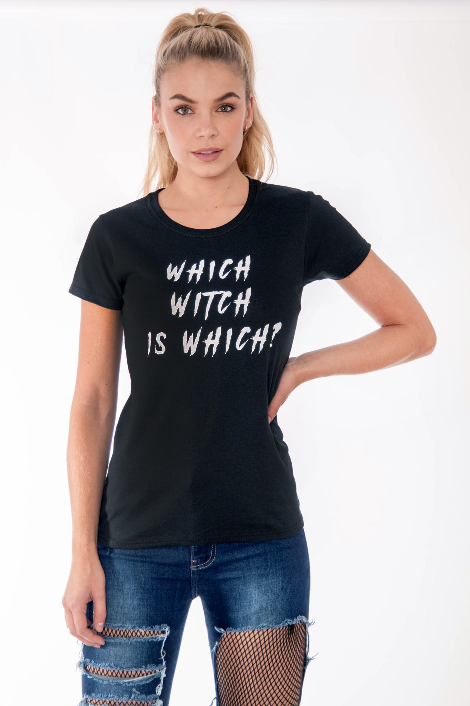Sabrina Which Witch Is Halloween T Shirt Clothing Modamore Swing Sleeves