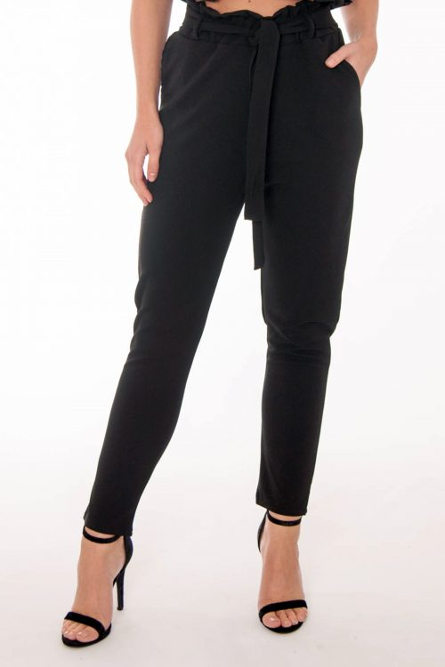 Jenny Black Frill Trousers