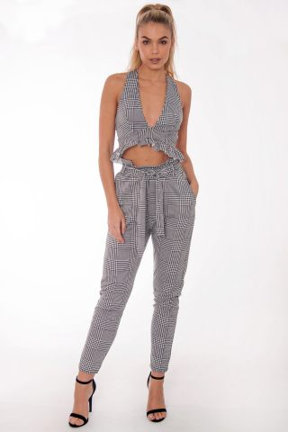 Gabi Gingham Frill Co Ord Set