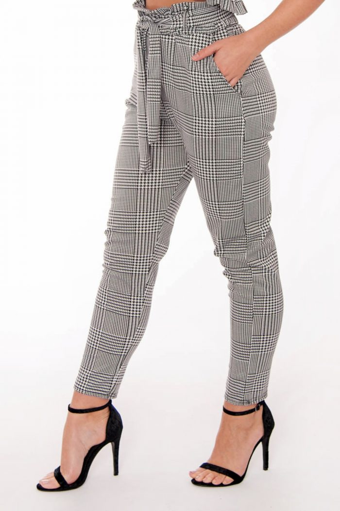 Jenny Gingham Check Frill Trousers