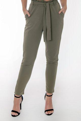Jenny Khaki Frill Trousers