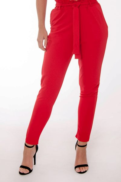 Jenny Red Frill Trousers