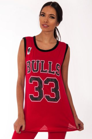 Emma Red Bulls 33 Print Sleeveless Top