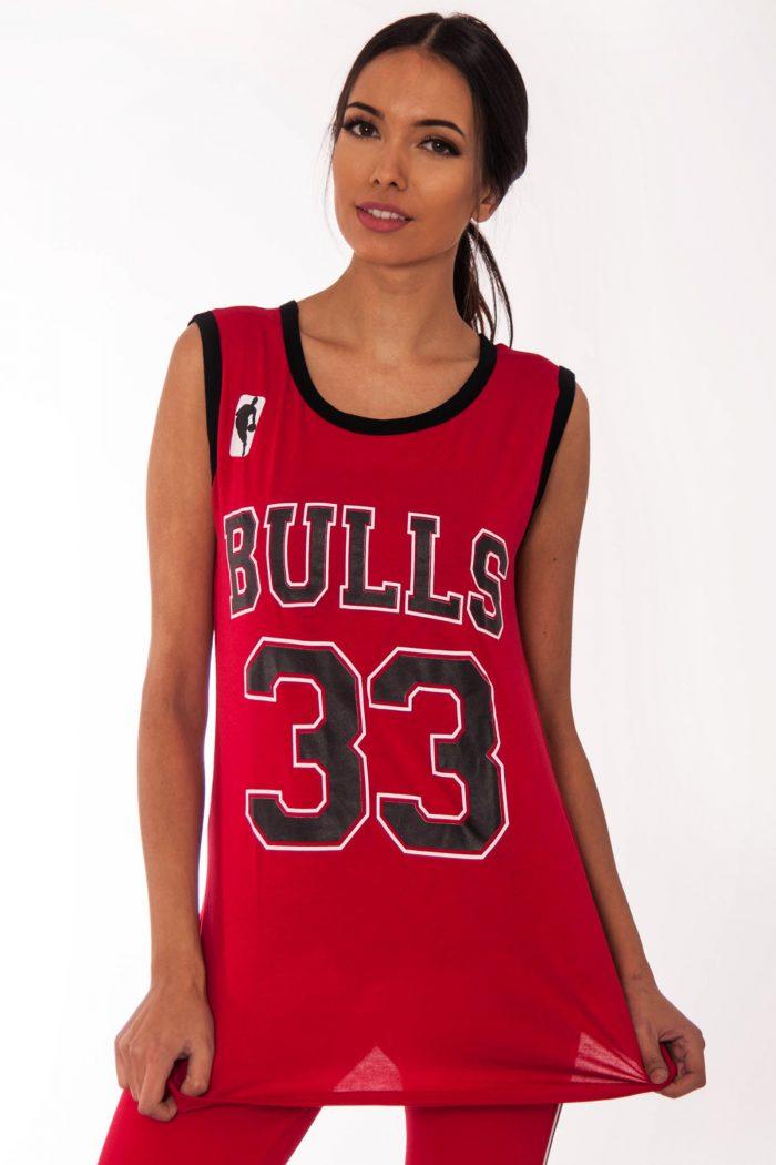 Emma Red Bulls 33 Print Sleeveless Top