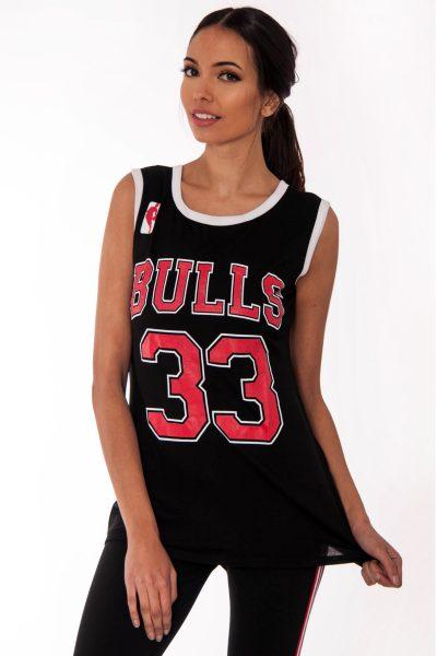 Emma Black Bulls 33 Print Sleeveless Top