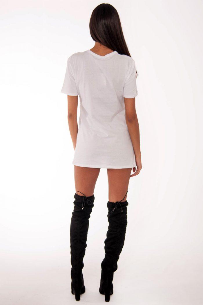 Remi White Brooklyn Slogan T-Shirt