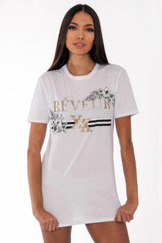 Remi White Reveur Slogan T-Shirt