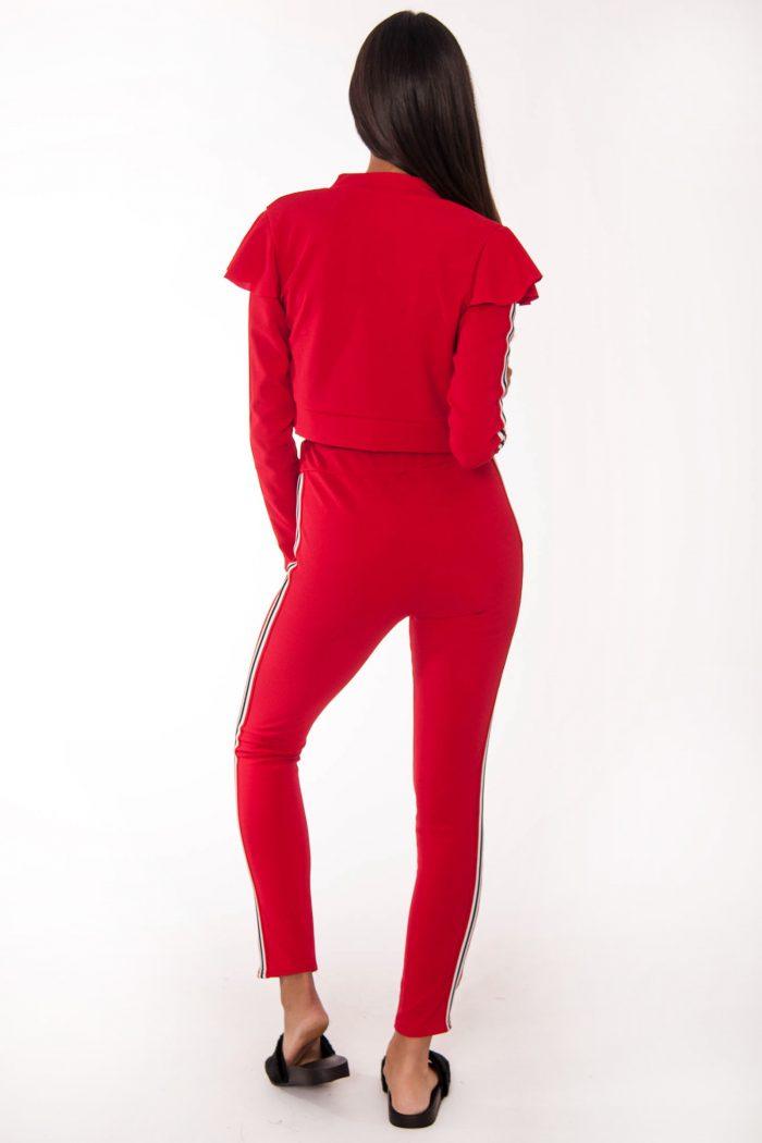 Mel Red Side Stripe Loungewear Set