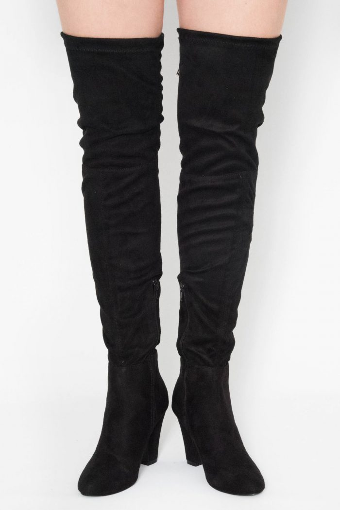 Nina Black Over The Knee Boots