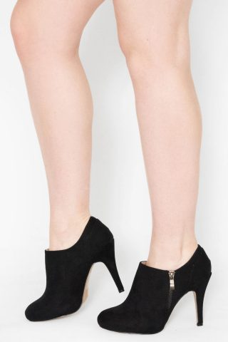 Jenna Black Faux Suede Kitten Heel Boot