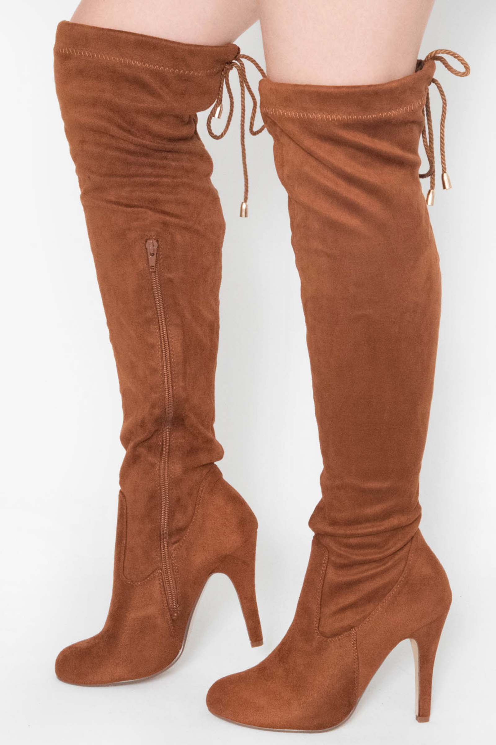 2d24167462d Anna Tan Faux Suede Over The Knee Boots