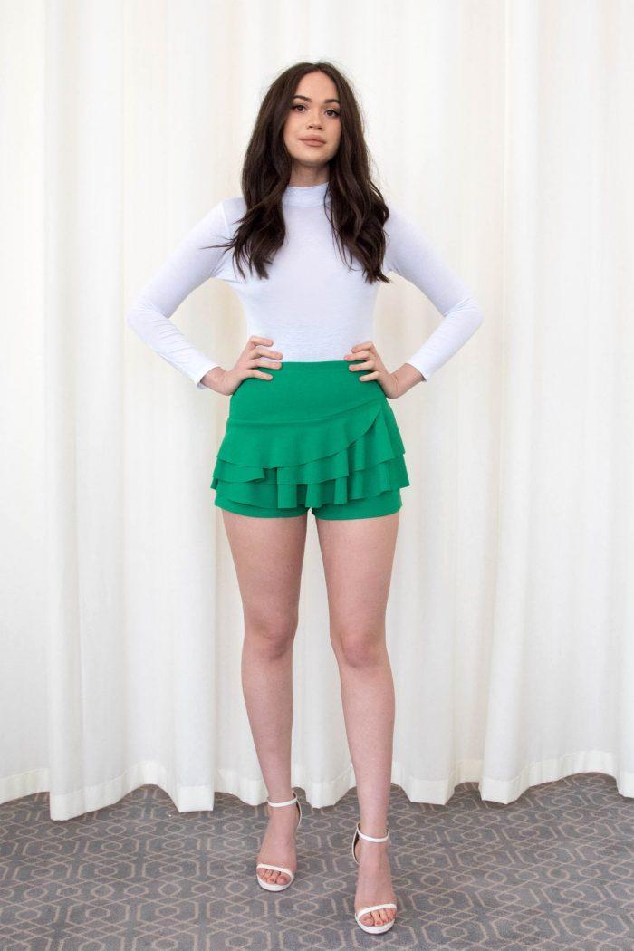 Kerry Jade Green Triple Frill High Waisted Skort