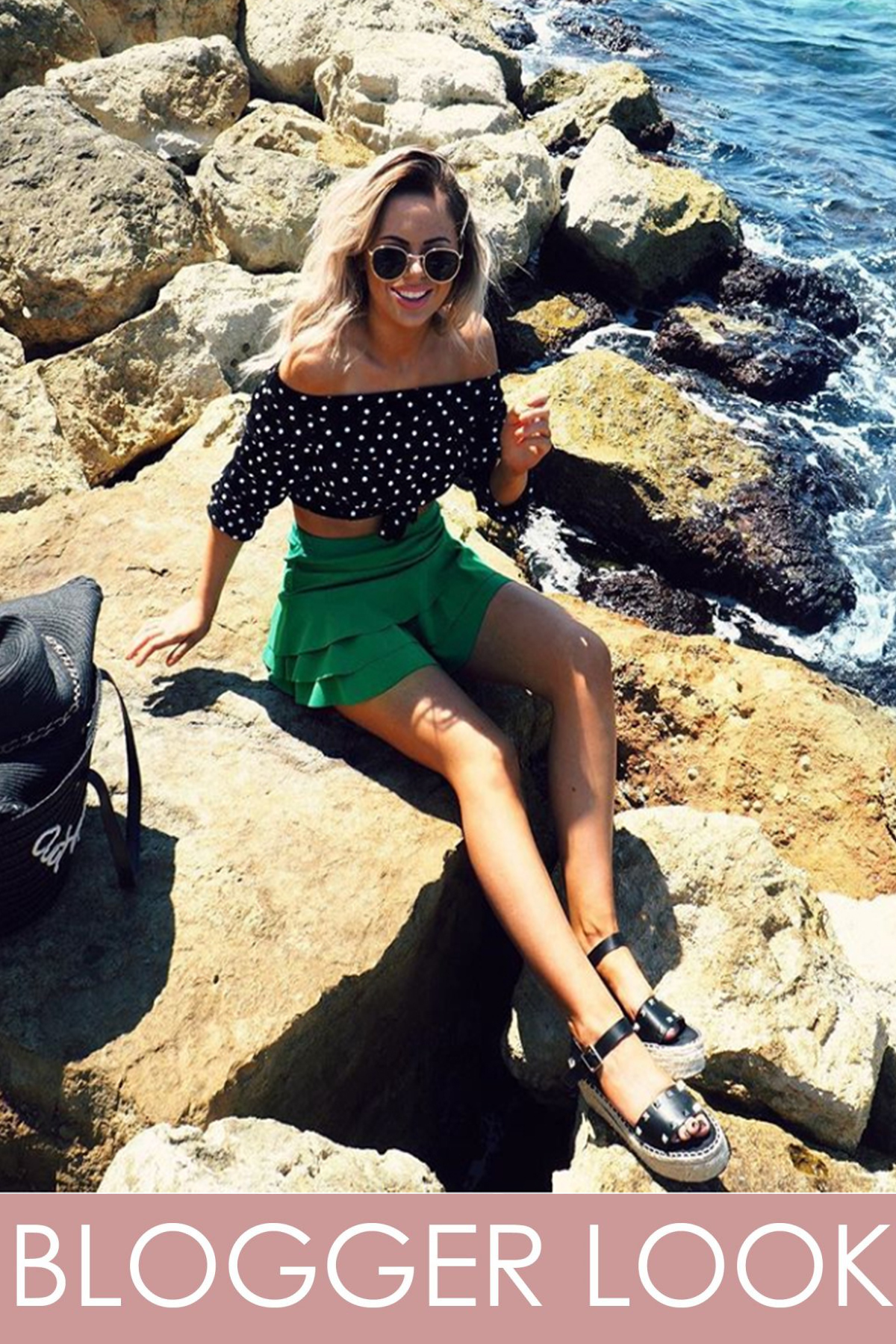 Kerry Jade Green Triple Frill High Waisted Skorts