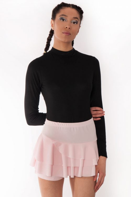 Kerry Baby Pink Triple Frill High Waisted Skorts