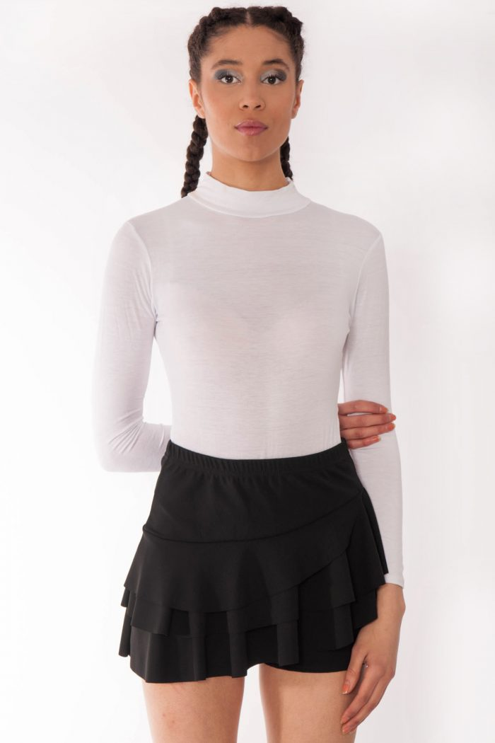 Kerry Black Triple Frill High Waisted Skorts