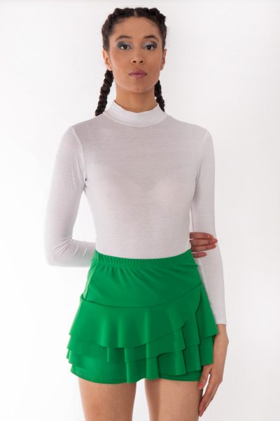 Jade Green Triple Frill High Waisted Skorts