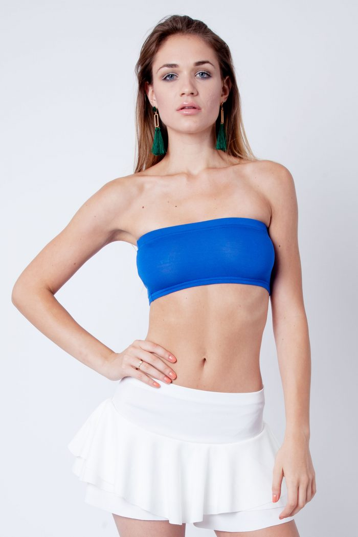 Isla Royal Blue Strapless Bandeau Boob Tube