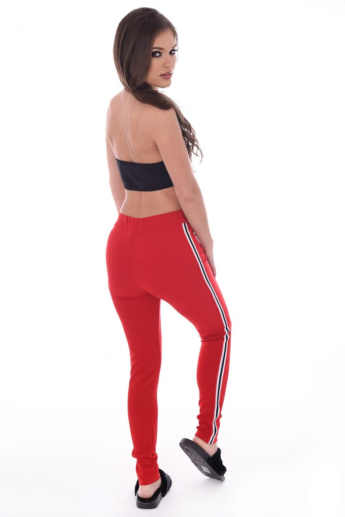 Courtney Red Side Stripe Trousers