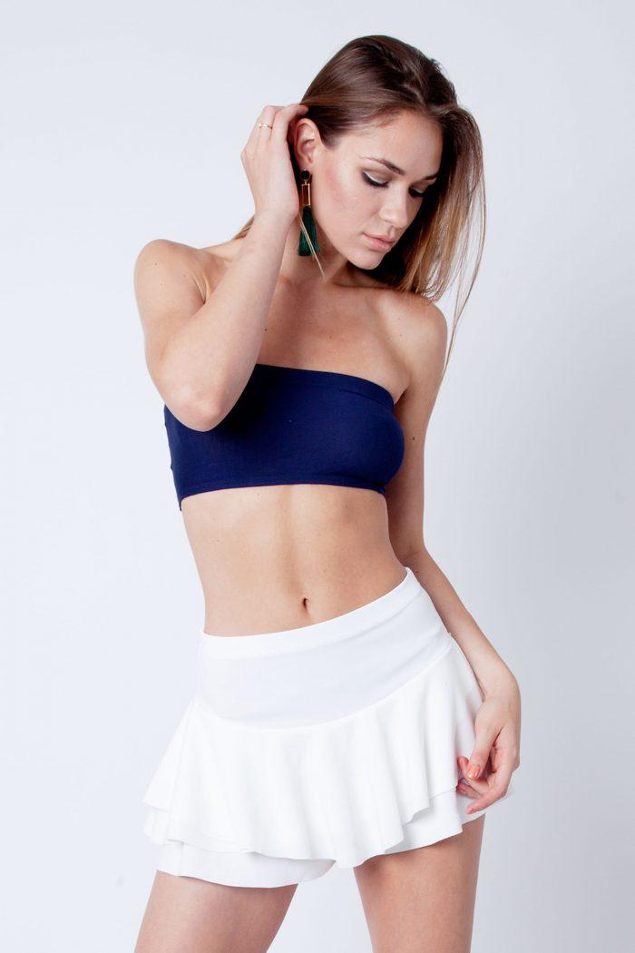 Ilsa Navy Blue Strapless Bandeau Boob Tube