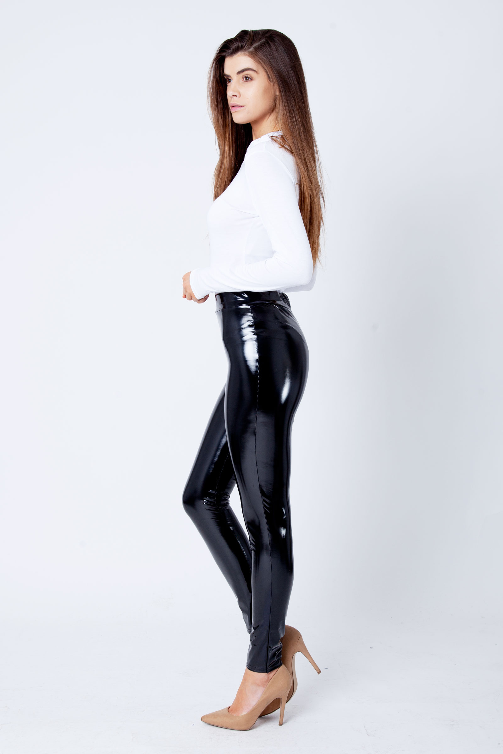 caec5fc4eeca9 Black Wet Look Shiny Leggings for sale| Fashion -Modamore